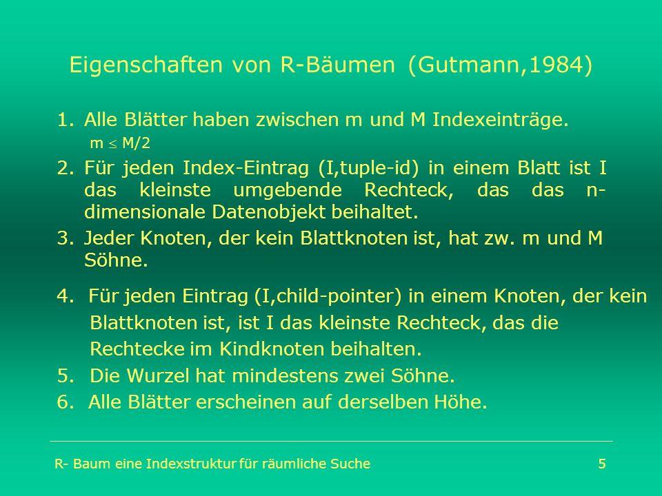 Eigenschaften von R-Bäumen (Gutmann,1984)
