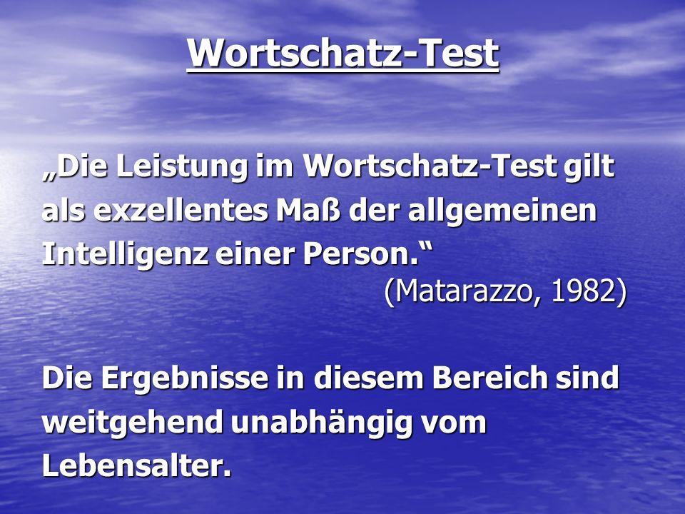 Wortschatz-Test