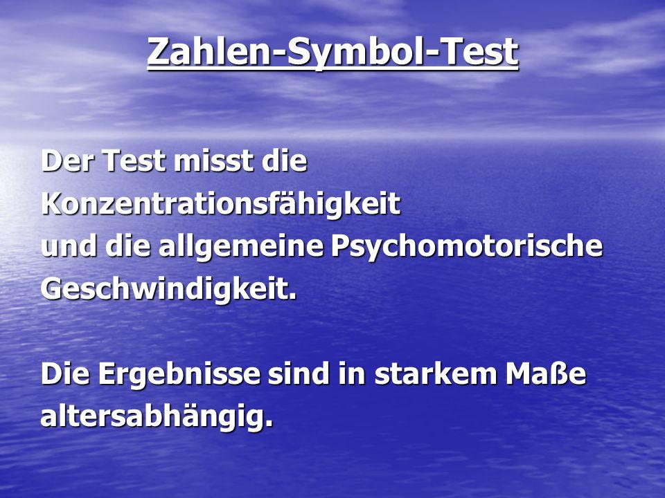 Zahlen-Symbol-Test
