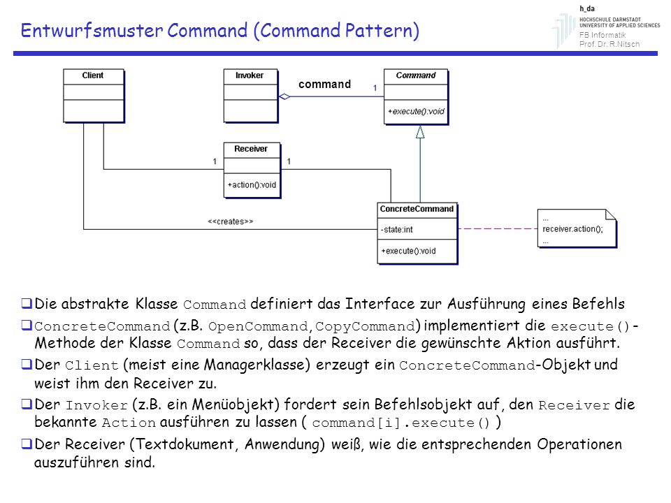Entwurfsmuster Command (Command Pattern)