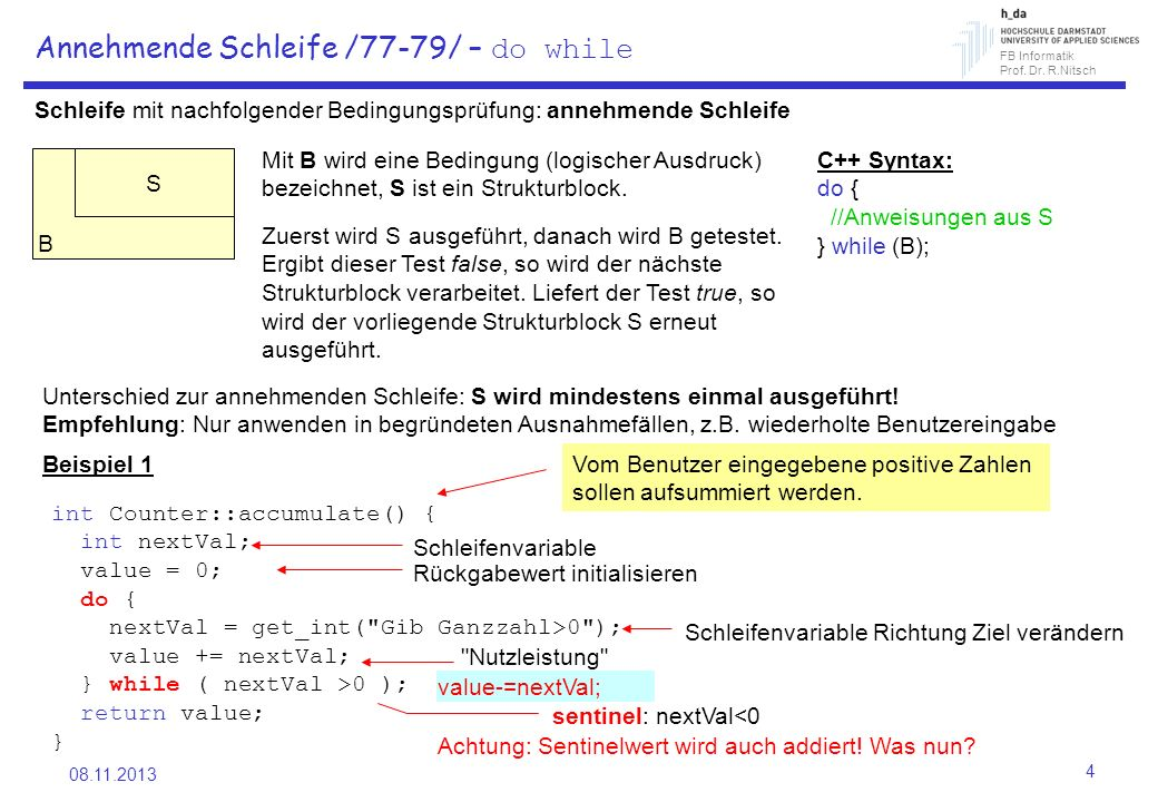 Annehmende Schleife /77-79/ – do while