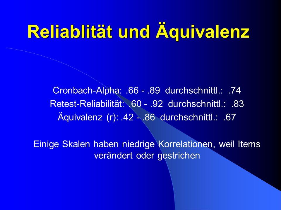 Reliablität und Äquivalenz