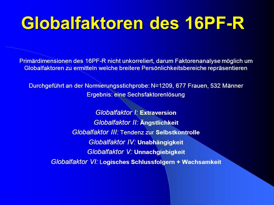 Globalfaktoren des 16PF-R