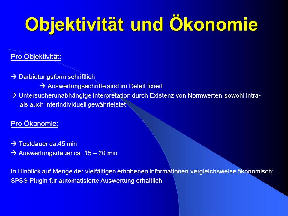 Objektivität und Ökonomie