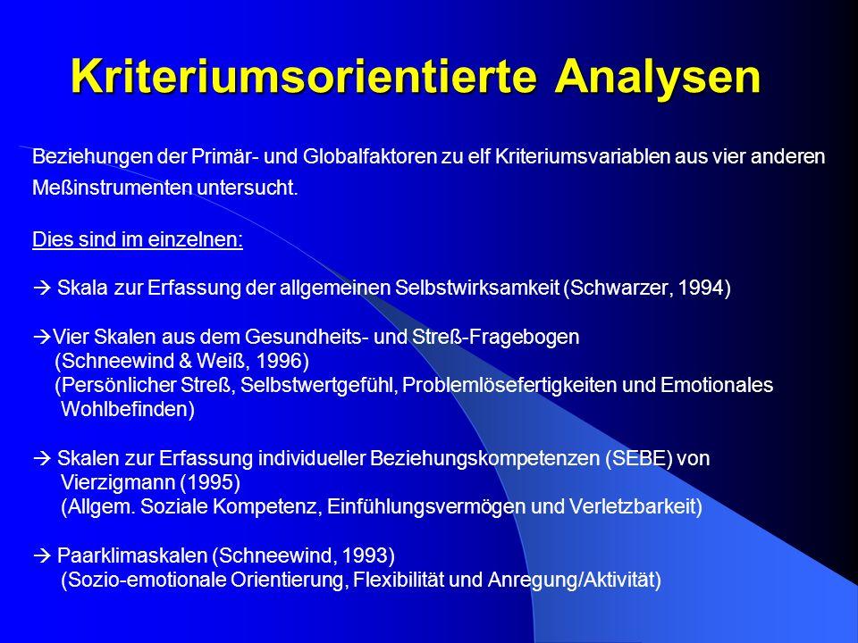 Kriteriumsorientierte Analysen