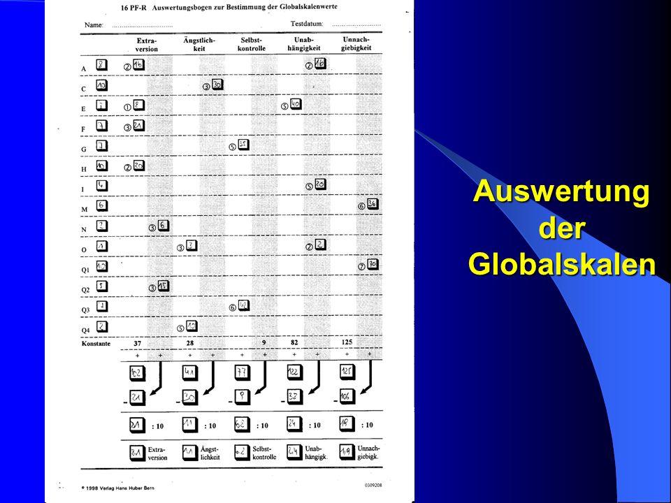 Auswertung der Globalskalen