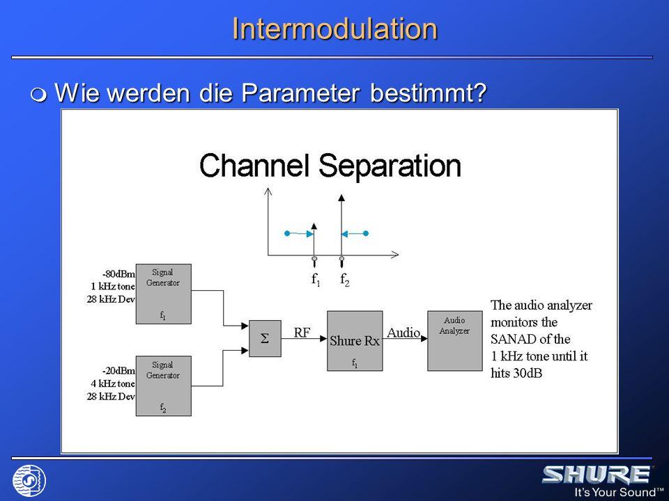 Intermodulation Wie werden die Parameter bestimmt