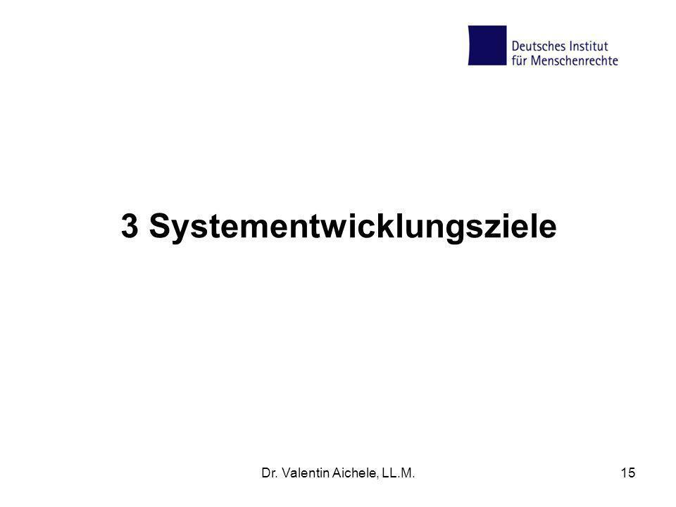 3 Systementwicklungsziele