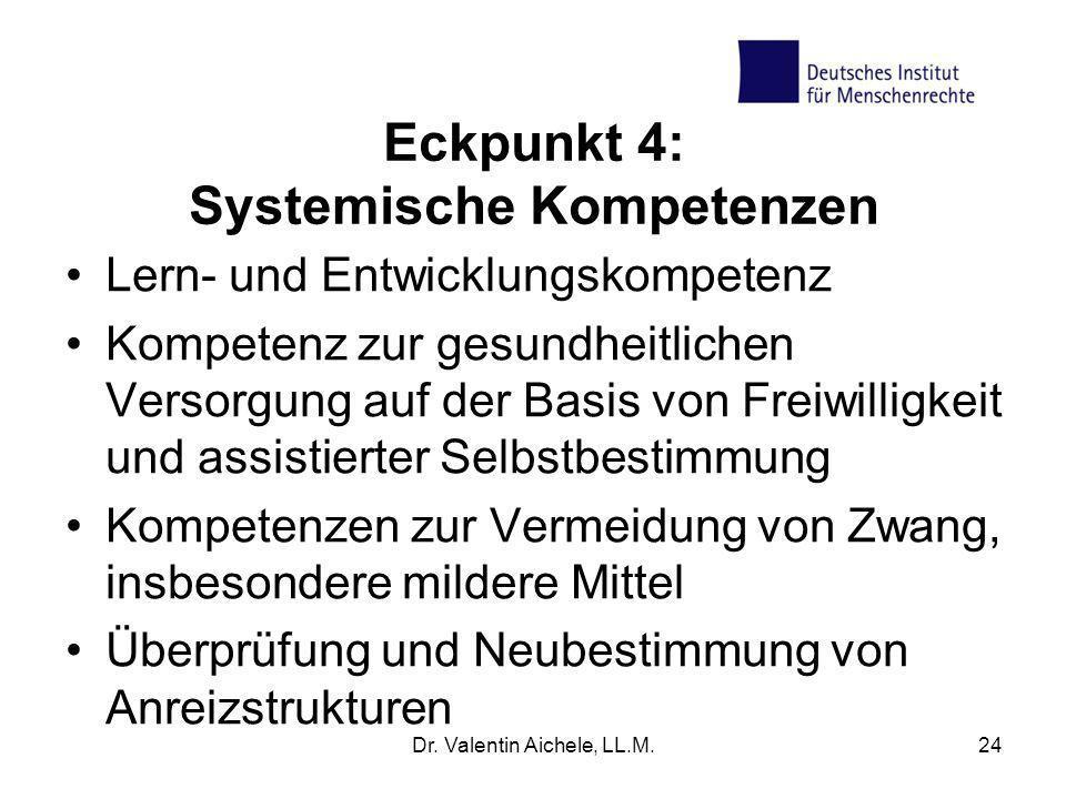 Eckpunkt 4: Systemische Kompetenzen