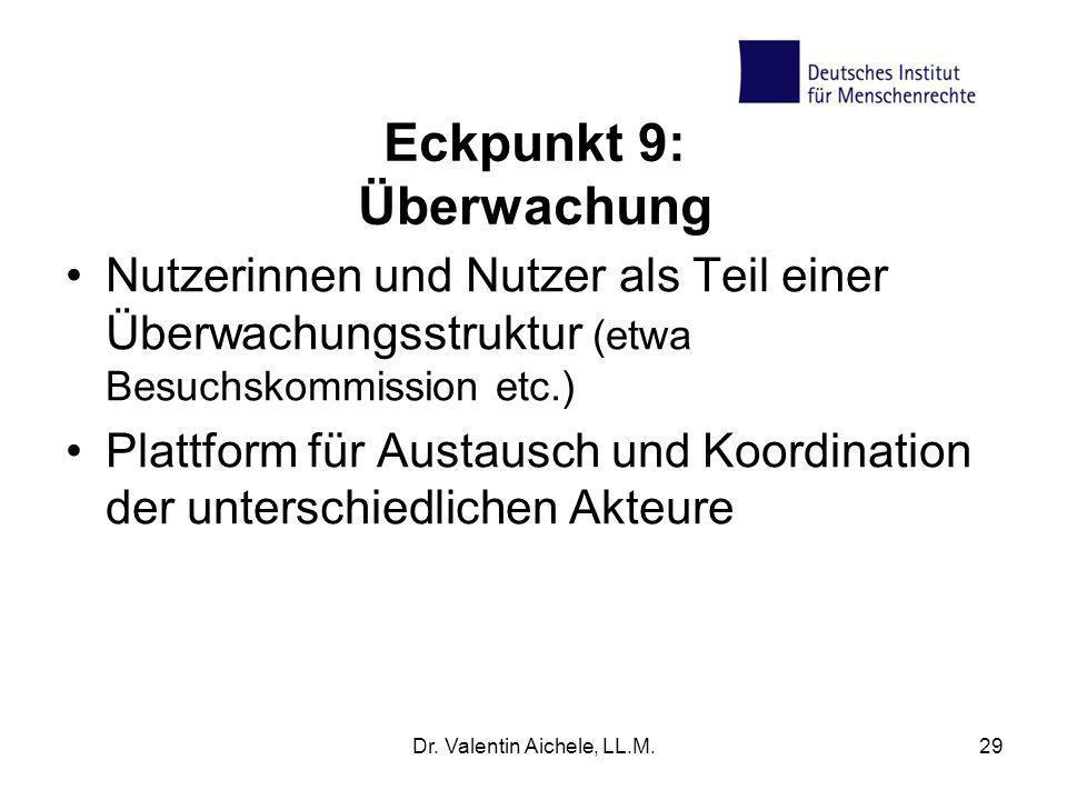 Eckpunkt 9: Überwachung