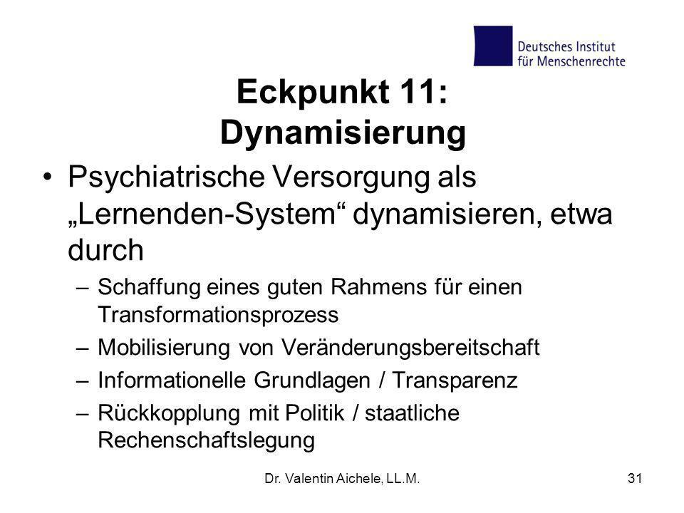 Eckpunkt 11: Dynamisierung