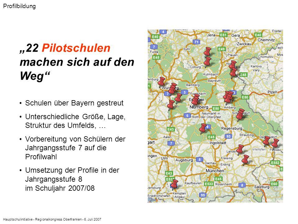 """""""22 Pilotschulen machen sich auf den Weg"""