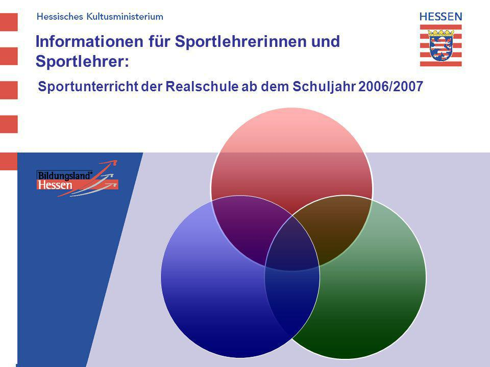 Informationen für Sportlehrerinnen und Sportlehrer: