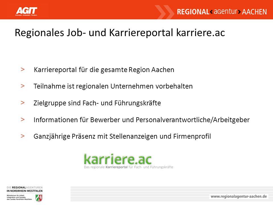 Regionales Job- und Karriereportal karriere.ac