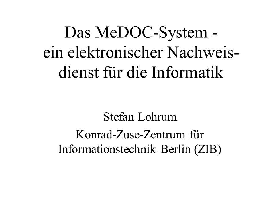 Stefan Lohrum Konrad-Zuse-Zentrum für Informationstechnik Berlin (ZIB)