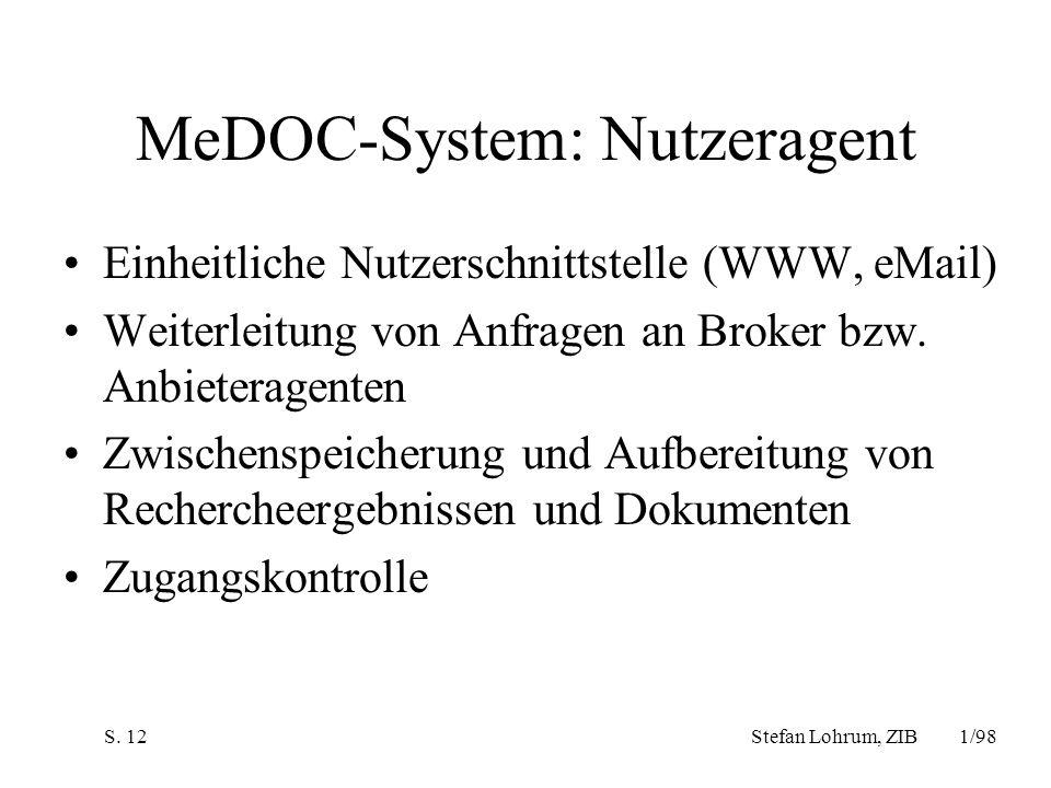 MeDOC-System: Nutzeragent