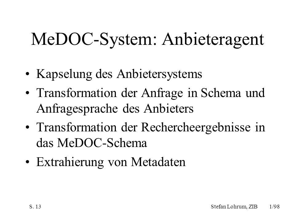 MeDOC-System: Anbieteragent