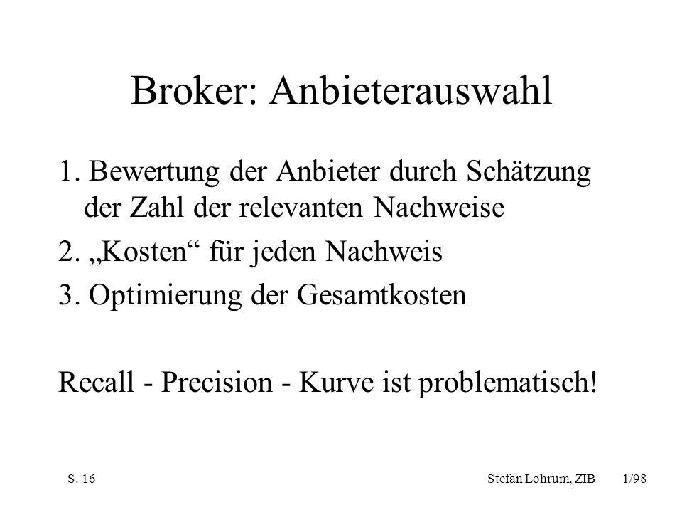 Broker: Anbieterauswahl