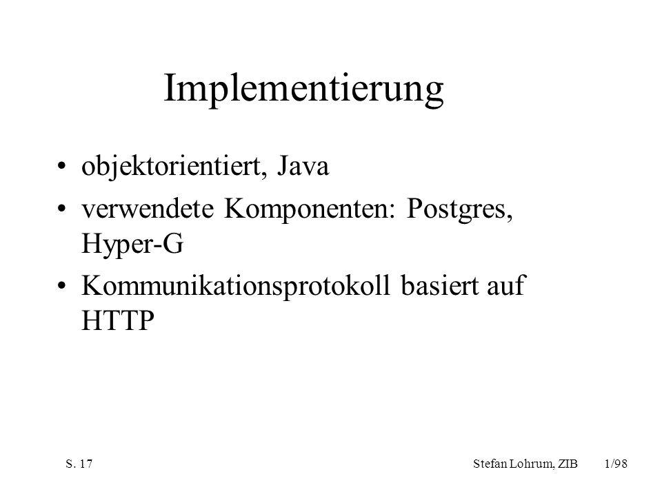 Implementierung objektorientiert, Java