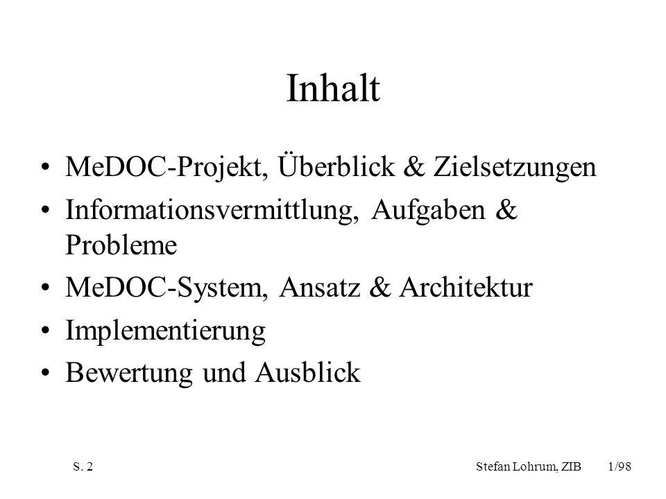 Inhalt MeDOC-Projekt, Überblick & Zielsetzungen