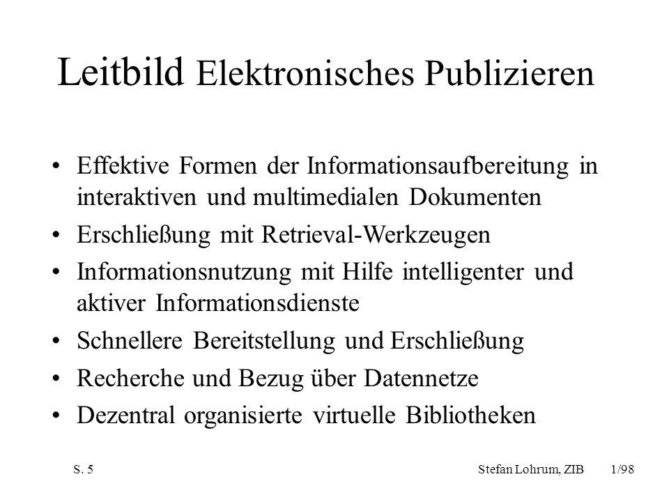 Leitbild Elektronisches Publizieren