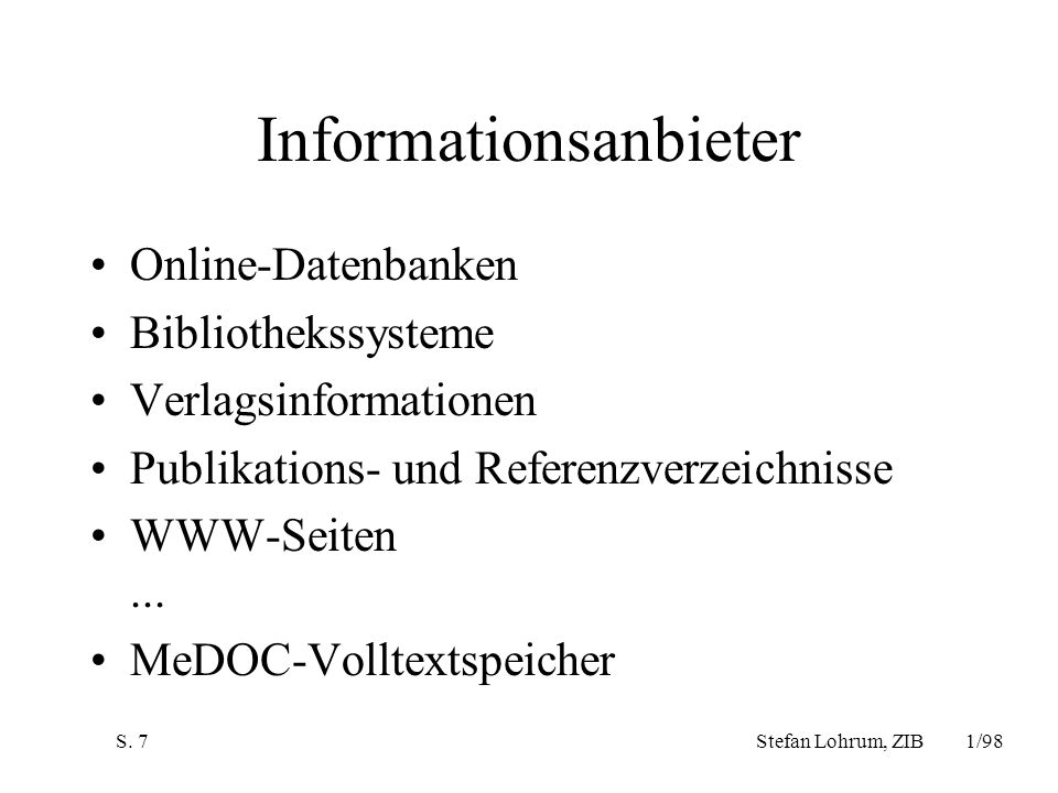 Informationsanbieter