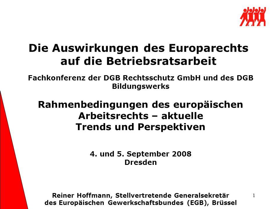 Die Auswirkungen des Europarechts auf die Betriebsratsarbeit