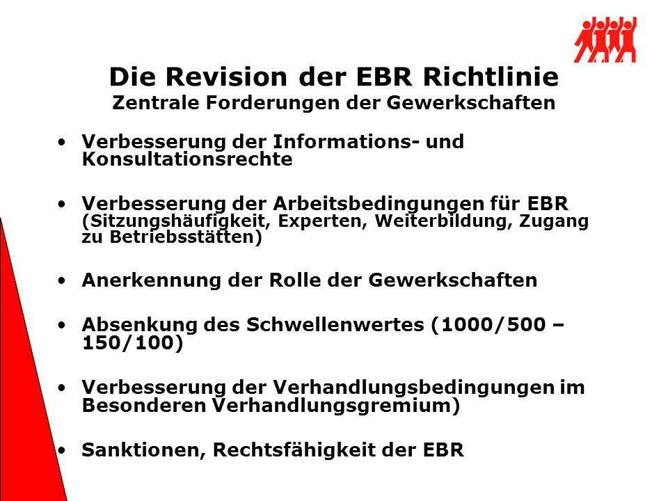 Die Revision der EBR Richtlinie Zentrale Forderungen der Gewerkschaften