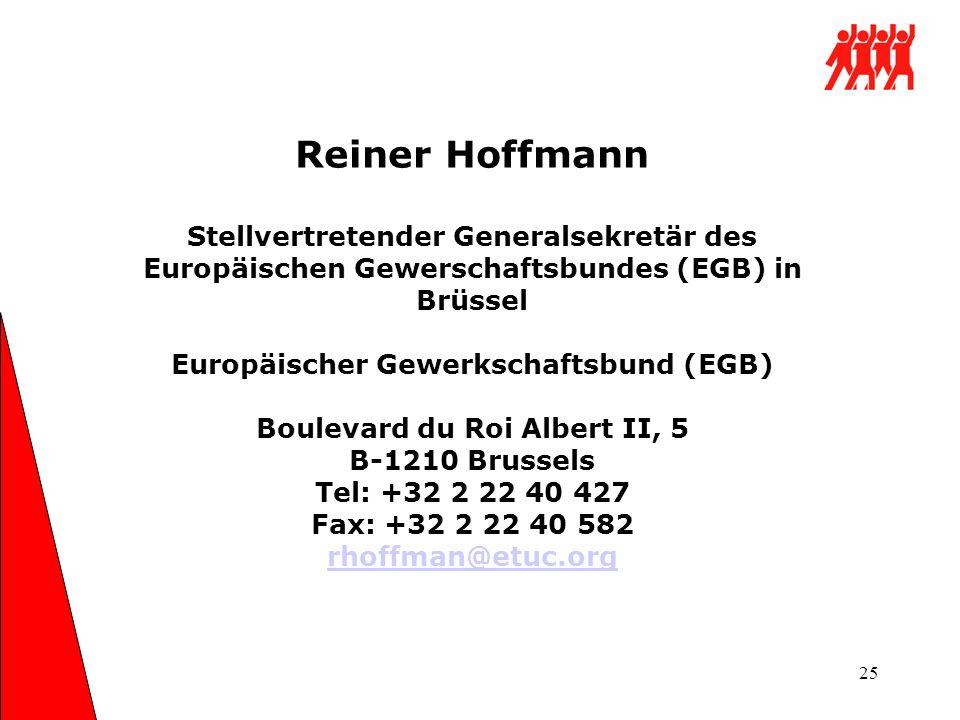 Europäischer Gewerkschaftsbund (EGB) Boulevard du Roi Albert II, 5