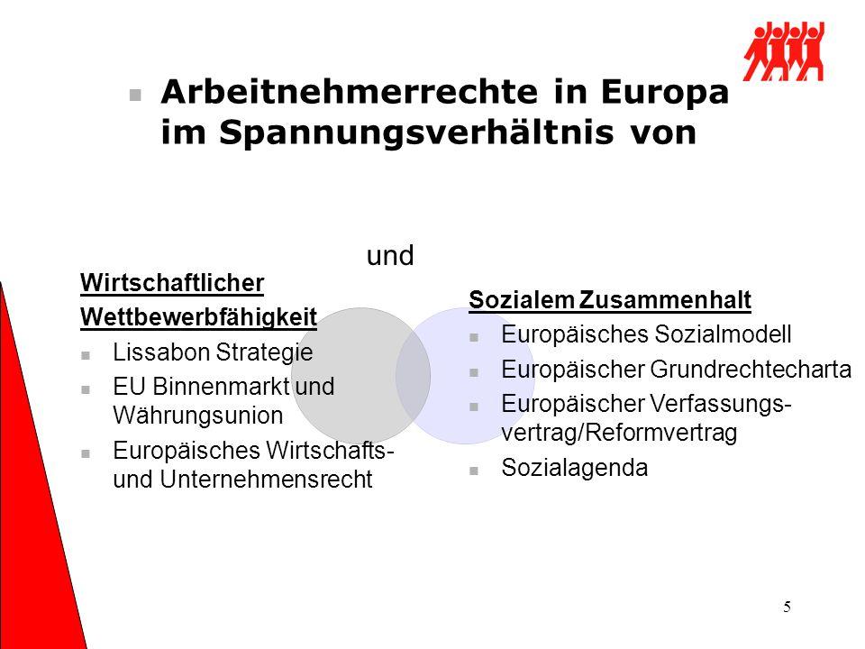 Arbeitnehmerrechte in Europa im Spannungsverhältnis von