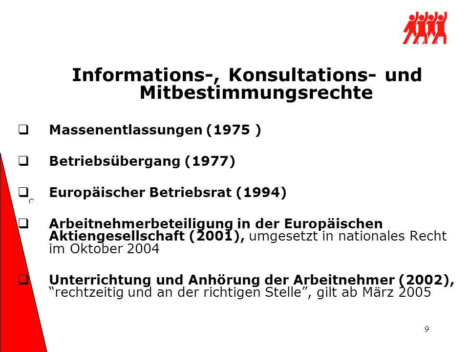 Informations-, Konsultations- und Mitbestimmungsrechte