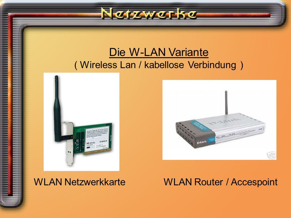 Die W-LAN Variante Die W-LAN Variante