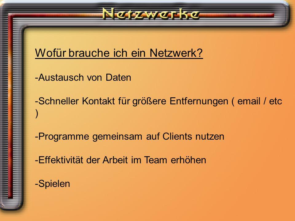Wofür brauche ich ein Netzwerk
