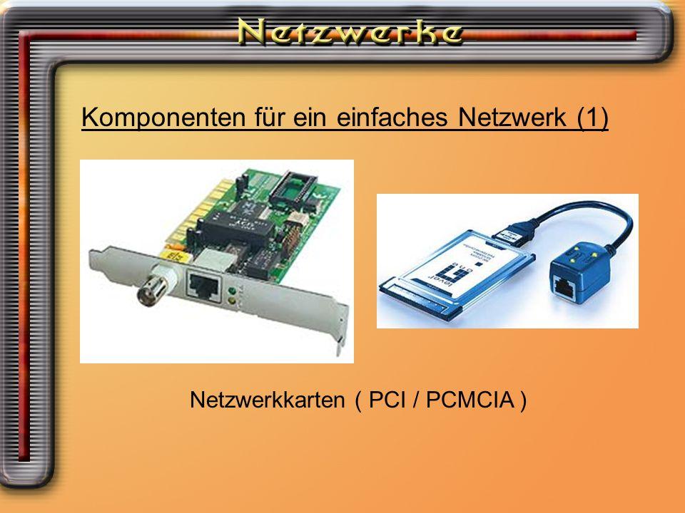 Komponenten für ein einfaches Netzwerk (1)