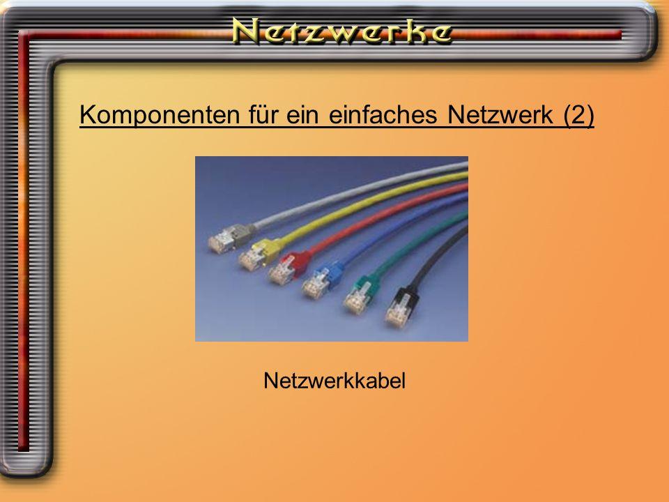 Komponenten für ein einfaches Netzwerk (2)