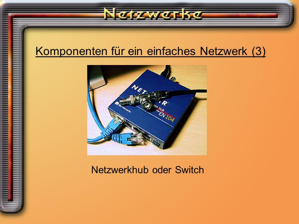 Komponenten für ein einfaches Netzwerk (3)