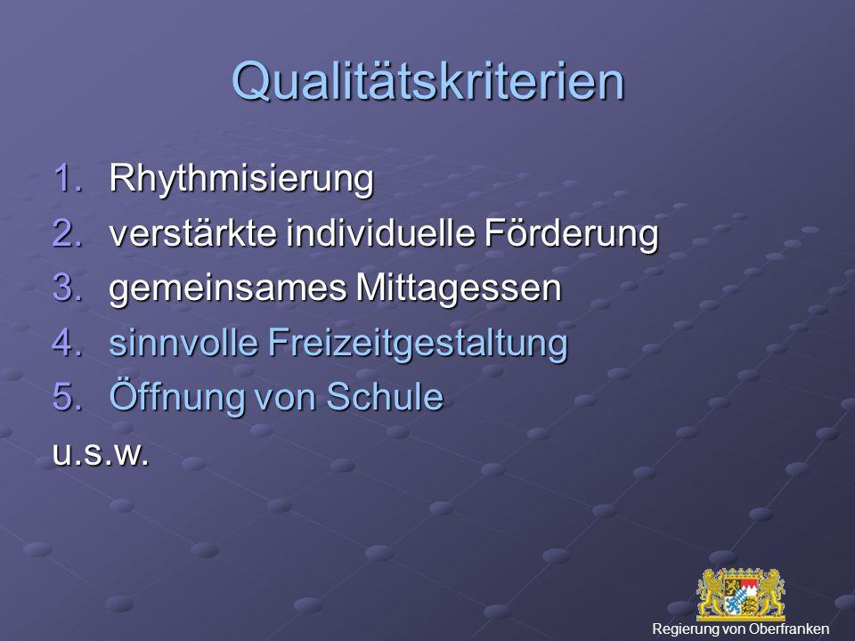 Qualitätskriterien Rhythmisierung verstärkte individuelle Förderung