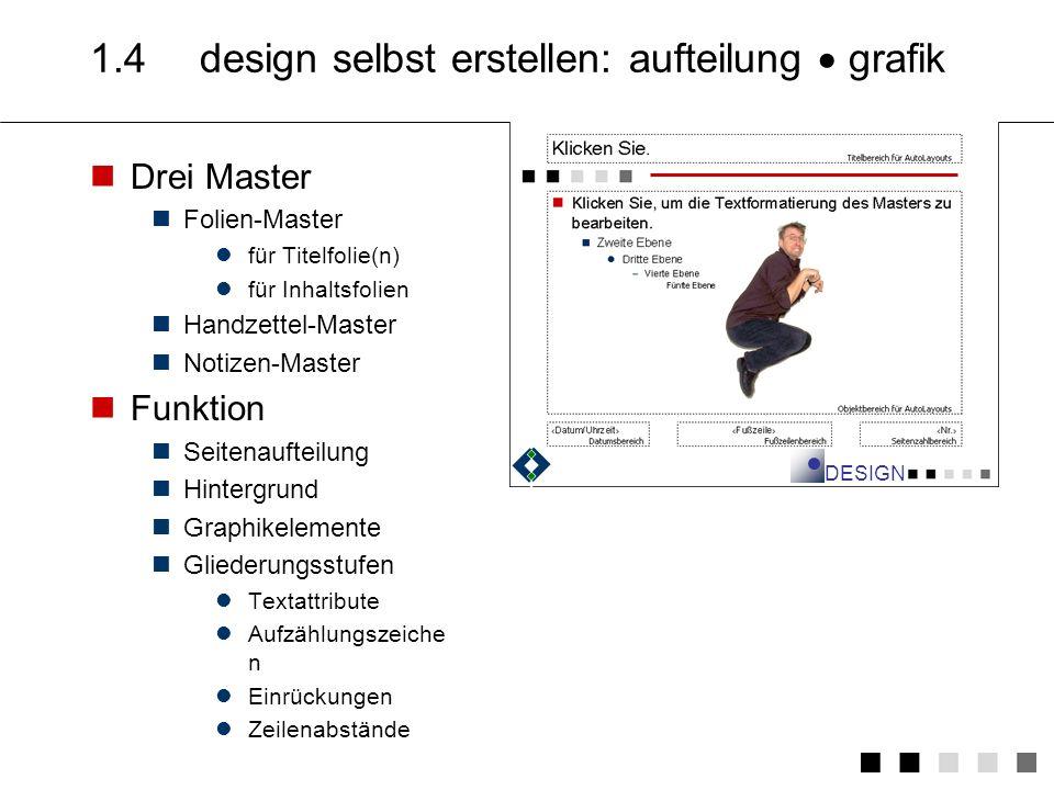 1.4 design selbst erstellen: aufteilung  grafik