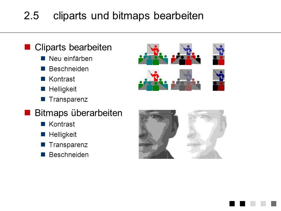 2.5 cliparts und bitmaps bearbeiten