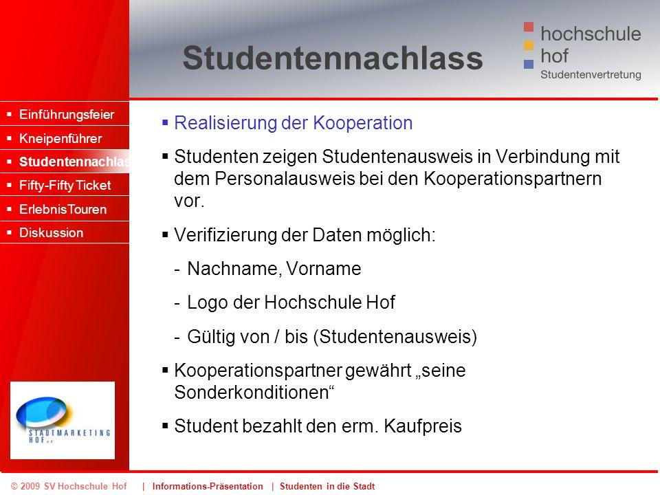 Studentennachlass Realisierung der Kooperation
