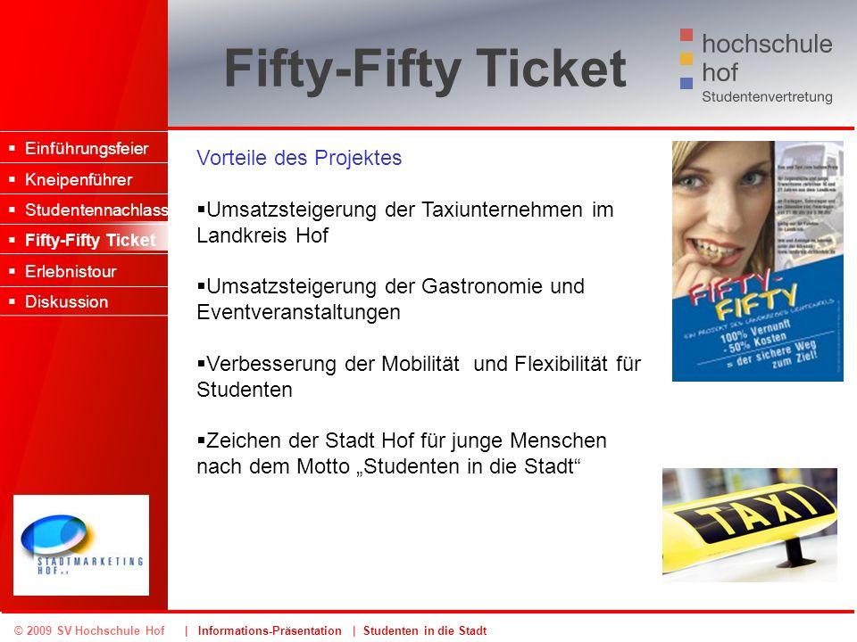 Fifty-Fifty Ticket Vorteile des Projektes