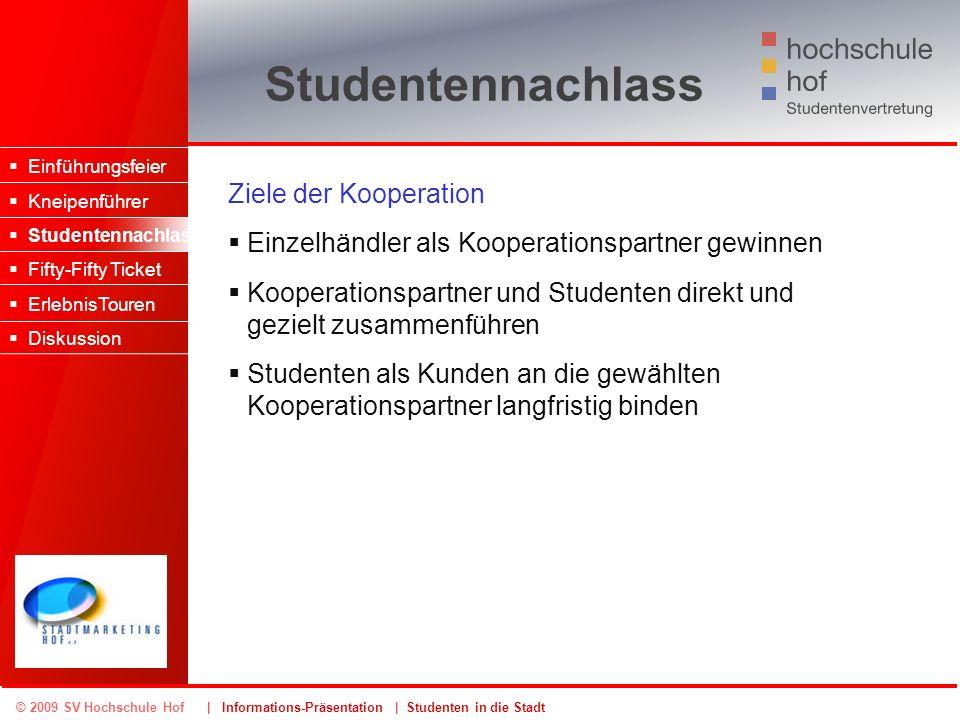 Studentennachlass Ziele der Kooperation