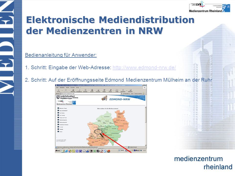 Elektronische Mediendistribution der Medienzentren in NRW