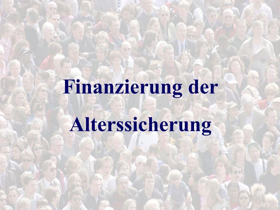 Finanzierung der Alterssicherung