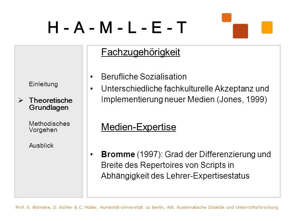 H - A - M - L - E - T Medien-Expertise Berufliche Sozialisation