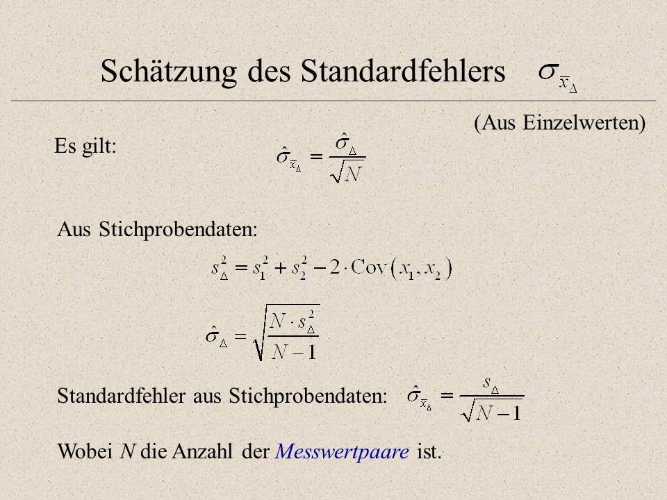 Schätzung des Standardfehlers