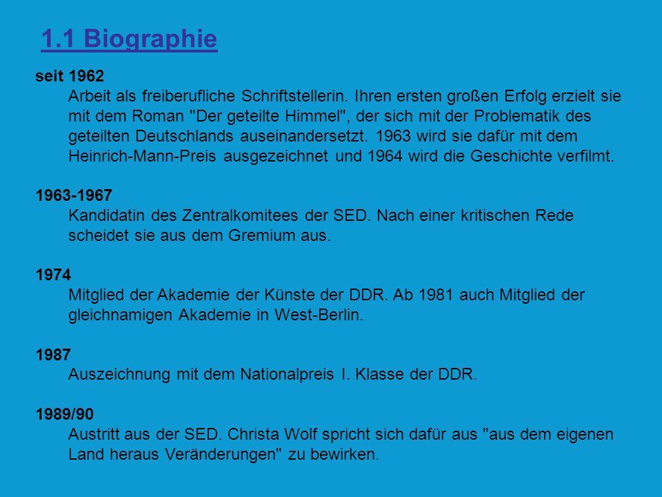 1.1 Biographie seit 1962.
