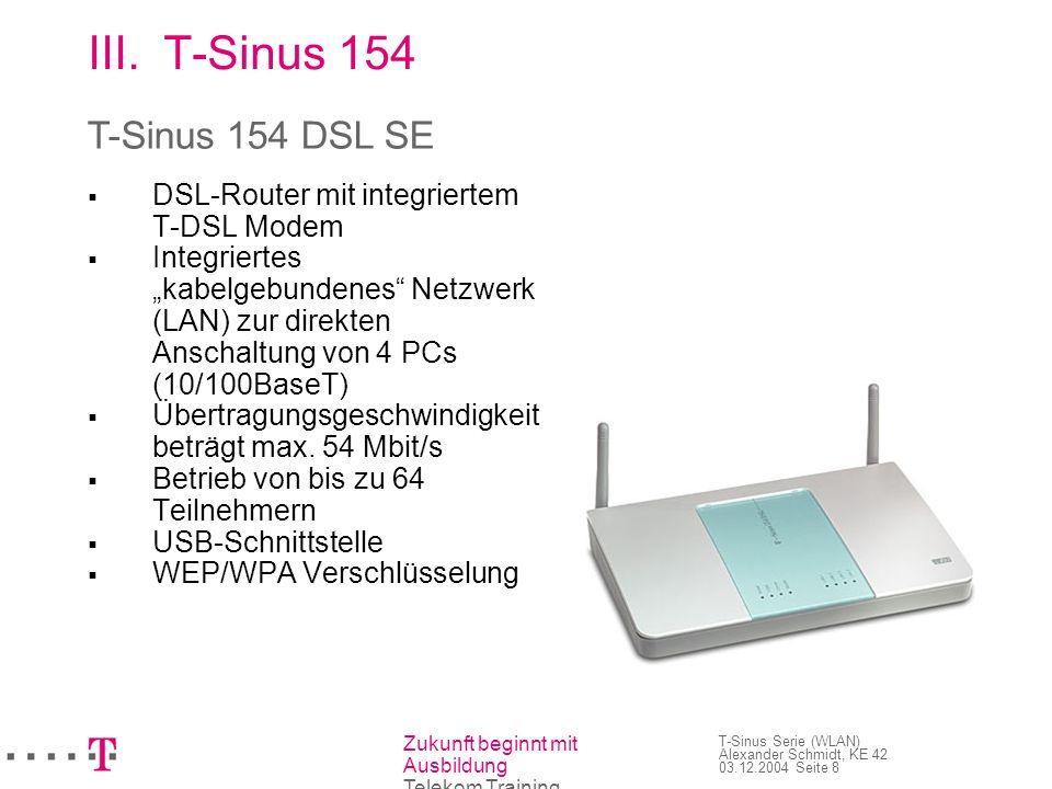 T-Sinus 154 T-Sinus 154 DSL SE 