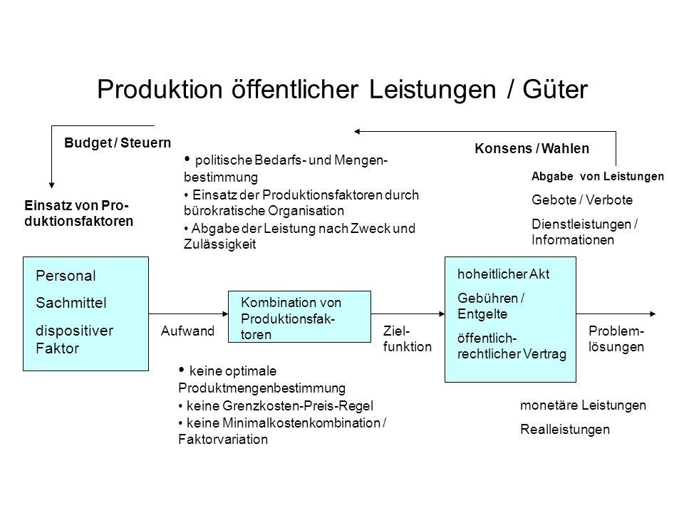 Produktion öffentlicher Leistungen / Güter