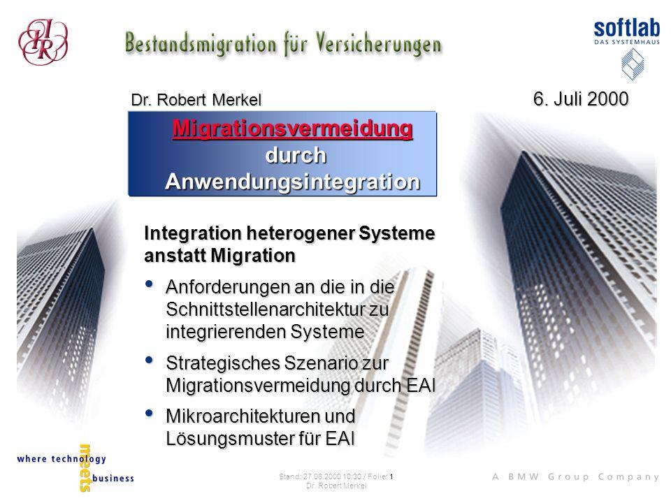 Migrationsvermeidung durch Anwendungsintegration